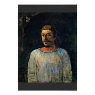 """"" de ""Près Du Golgotha"" del autorretrato de Gaugu Posters"
