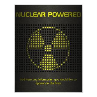 """De propulsión nuclear invitación 4.25"""" x 5.5"""""""
