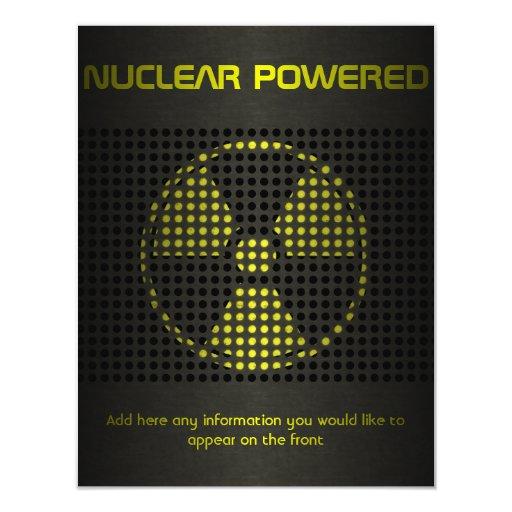 De propulsión nuclear invitación 10,8 x 13,9 cm