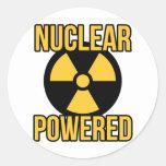 De propulsión nuclear pegatina redonda