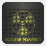 De propulsión nuclear pegatinas cuadradas