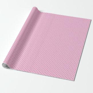 De puntos rosas papel de regalo