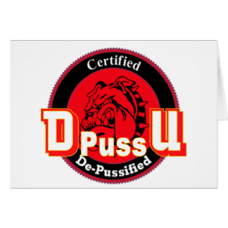 De Pussification University Official Product Card