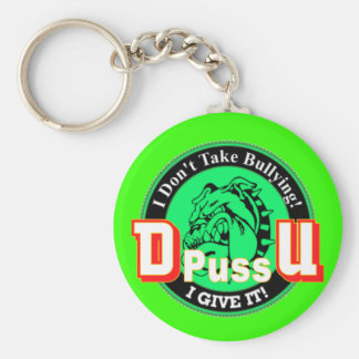 De Pussification University Official Product Key Chains