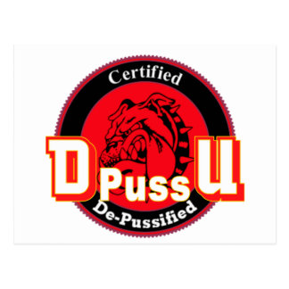 De Pussification University Official Product Postcard