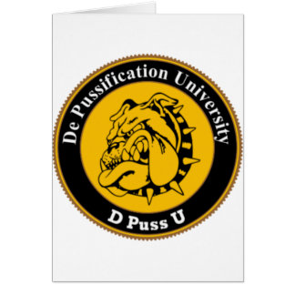 De Pussification University Official Products Card