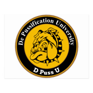De Pussification University Official Products Postcard