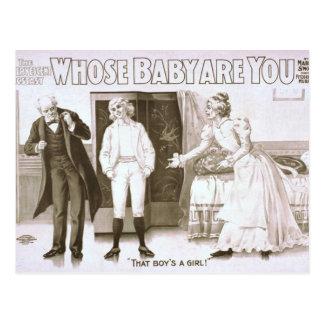 """¿De quién bebé es usted? , de """"un chica ese muchac Tarjeta Postal"""