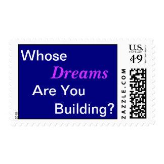 ¿De quién sueños? Timbre Postal