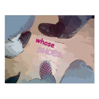 De quién zapatos tarjetas postales