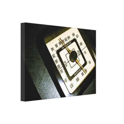 De radio retros marcan la impresión estirada 03 de lona envuelta para galerías