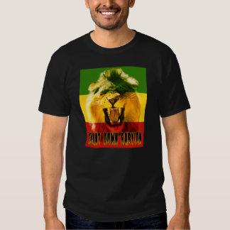 De Rasta del canto camiseta del león de Babilonia Remera