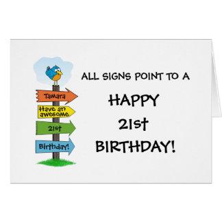 De relleno tarjeta de cumpleaños de la diversión d