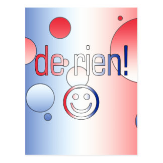 De Rien! French Flag Colors Pop Art Postcard