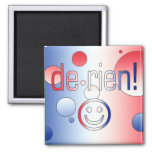 ¡De Rien! La bandera francesa colorea arte pop Imán De Nevera