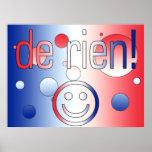 ¡De Rien! La bandera francesa colorea arte pop Impresiones