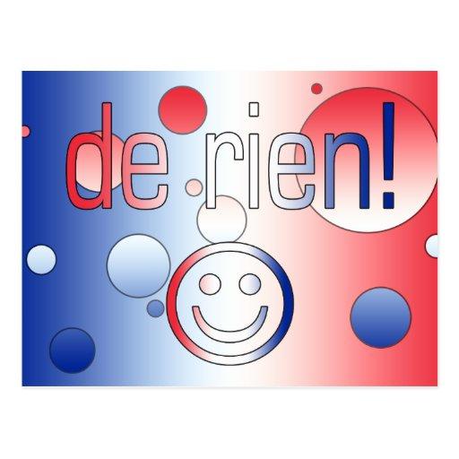 ¡De Rien! La bandera francesa colorea arte pop Tarjeta Postal