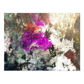Dé rienda suelta al arte abstracto del estrago tarjeta postal