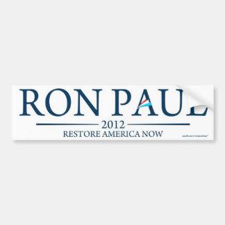 De RON PAUL 2012 del restablecimiento de América p Pegatina Para Auto