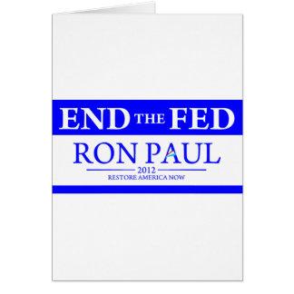 De Ron Paul del restablecimiento de América bander Tarjeta De Felicitación