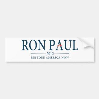 De Ron Paul del restablecimiento de América pegati Pegatina Para Auto