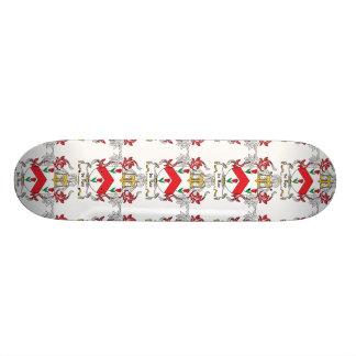 de Roo Family Crest Custom Skate Board