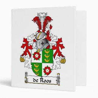 de Roos Family Crest Vinyl Binder