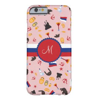De Rusia con el monograma del ruso del amor Funda Barely There iPhone 6