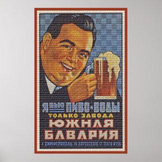 De Rusia con la cerveza Posters