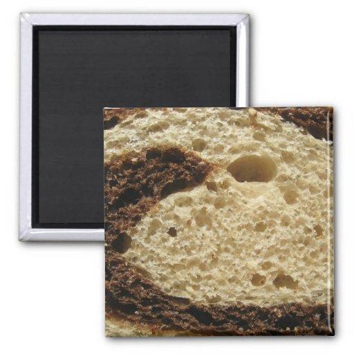 De Rye del pan cierre para arriba Imán Cuadrado