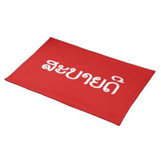 ♦ de Sabaidee hola en Lao/Laos/♦ laosiano de la Mantel