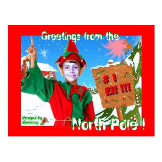 De # saludos 1 duende de la postal de Polo Norte