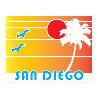 De San Diego California - estilo del vintage Postal