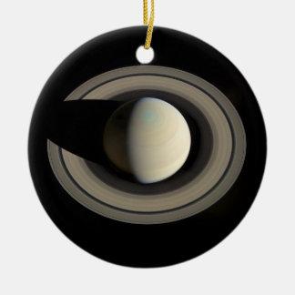 ~ de SATURN del PLANETA (Sistema Solar) Adorno Redondo De Cerámica