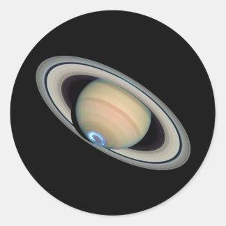 ~ de SATURN del PLANETA (Sistema Solar) Pegatina Redonda