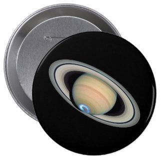 ~ de SATURN del PLANETA (Sistema Solar) Pin Redondo 10 Cm