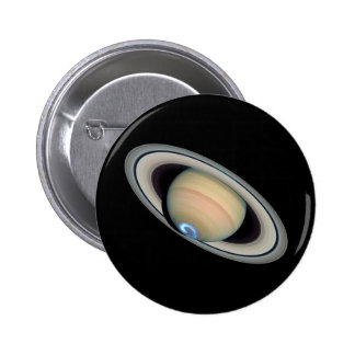 ~ de SATURN del PLANETA (Sistema Solar) Pin Redondo 5 Cm