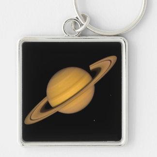 ~ de SATURN v.1 (Sistema Solar) Llavero Cuadrado Plateado
