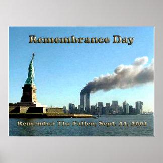 De sept. del día de la conmemoración el 911 11, 20 póster