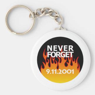 De sept. el 11 de 2001 de la conmemoración llavero redondo tipo pin