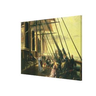 De Sheerness a Valentia, un grupo de figuras encen Lienzo Envuelto Para Galerias