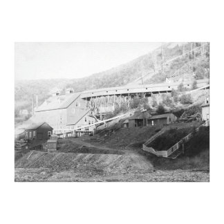 De Smet Gold Stamp Mill in Central City Canvas Print