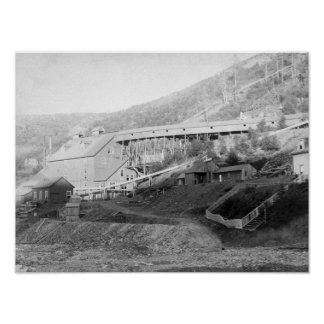 De Smet Gold Stamp Mill in Central City Poster