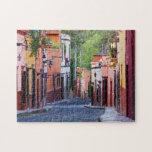 "De Sollano Street, San Miguel De Allende Jigsaw Puzzle<br><div class=""desc"">De Sollano Street,  San Miguel de Allende</div>"