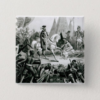 De Soto Discovering the Mississippi Pinback Button
