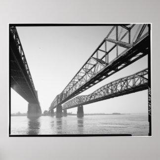 De Soto, Harahan & Memphis Bridges Print