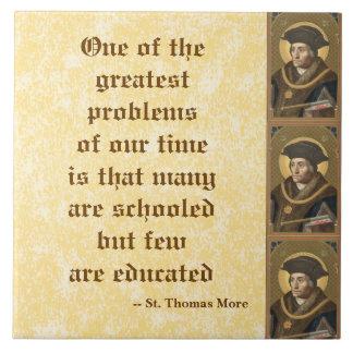 De St Thomas cita famosa de la educación más (SAU Azulejo Cuadrado Grande