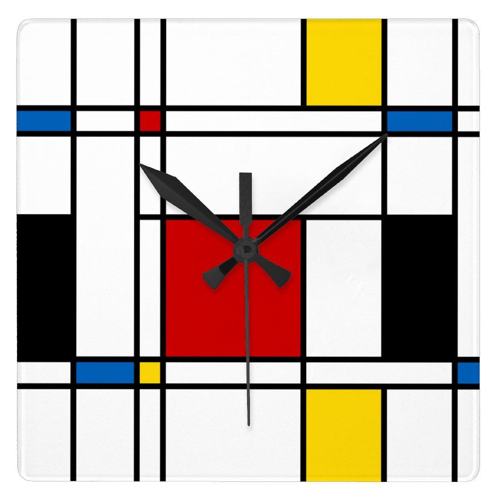 De Stijl De Stijl Pattern Square Wall