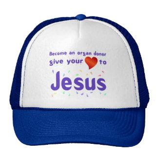 Dé su corazón a Jesús Gorros Bordados