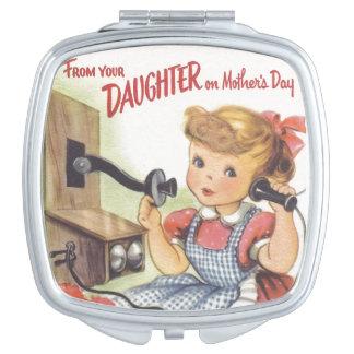 De su hija el día de madres espejos compactos